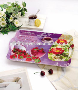 Cheap and Elegant Plastic Serving Tray with Handle