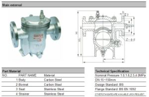 Cast Steel Flanged Free Floating Ball Type Steam Trap pictures & photos