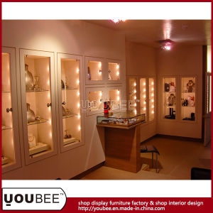 High Quality Wooden Jewelry Display Showcase pictures & photos