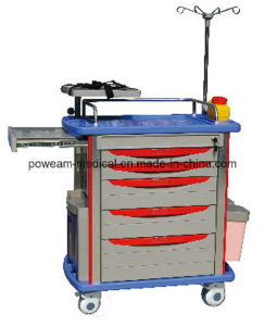 Hospital Room Medical Furniture High Quality Medical Emergency Trolley (ET-6) pictures & photos