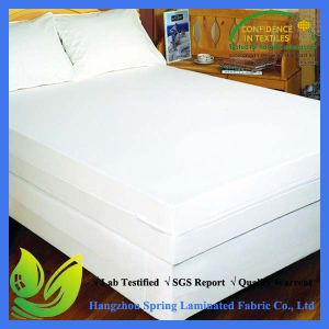 Cal King Size Cotton Fabric Polyester Filling Allergen Free Noiseless Waterproof Mattress Protector pictures & photos