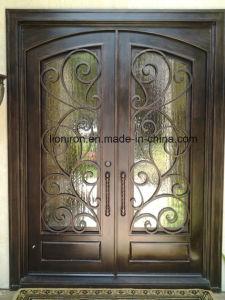 China Wholesale Custom Ornamental Wrougt Iron Doors - China Entry ...