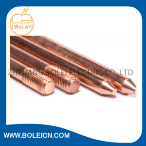 "Size 5/8"" X 8′ Copper Clad Ground Rod for Tower Grounding pictures & photos"