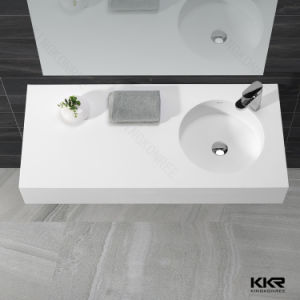 Corian Solid Surface Wall-Hung Bahroom Wash Basin pictures & photos
