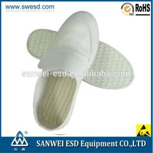 ESD Shoe Anti-Static Mesh Leather Shoes with Magic Strap (3W-9106) pictures & photos