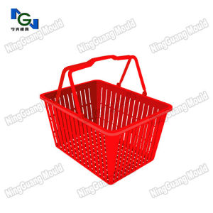 Plastic Supermarket Handle Basket Mold pictures & photos