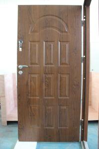 Teak Wood Designer Entry Security Steel Metal Iron Entrance Exterior Door pictures & photos