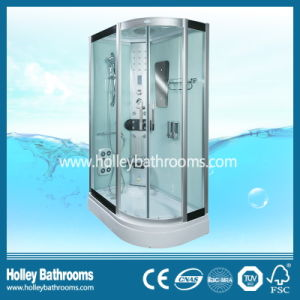 New Design Computer Display Shower Cabin with Glass Shelf and Seat (SR119L) pictures & photos