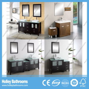 Australia Solid Wood Modern Bathroom Vanity Units Composed by 3 Cabinets (BC126V) pictures & photos
