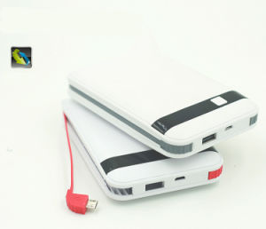 Built-in Cable Power Bank 8000mAh Li-Polymer Battery