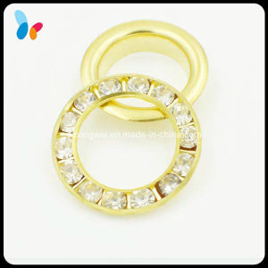Decorative Rhinestone Beads Gold Metal Eyelet for Garment pictures & photos