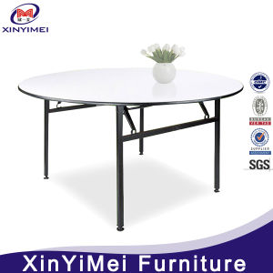 Hotel Modern Folded Round PVC Banquet Table pictures & photos