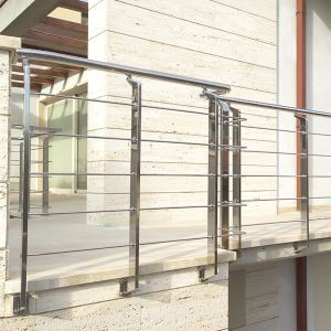 Wall-Mounted Stainless Steel Wire Railing Balcony (HR1356B) pictures & photos