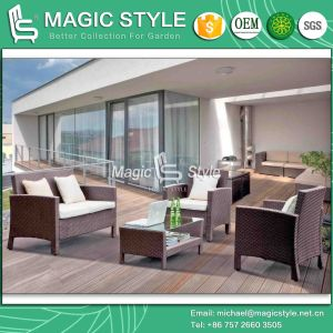 104 Sets/40 Hq Simple Kd Rattan Sofa Set Disassembly Patio Sofa Set (Magic Style) pictures & photos