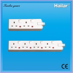 13A (2gang, 4 gang) Trailing Switched Socket and Extension Switch Socket+Neon pictures & photos