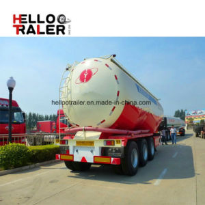 3 Axles 60 Ton Engine Compressor Powder Bulk Cement Tank Semi Trailer pictures & photos