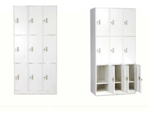 9-Door Compartment Steel Locker for Office pictures & photos