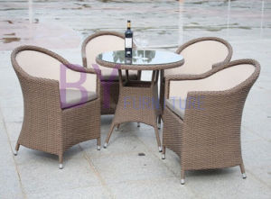 Cheap Modern Rattan Dining Synthetic Wicker Outdoor Furniture pictures & photos