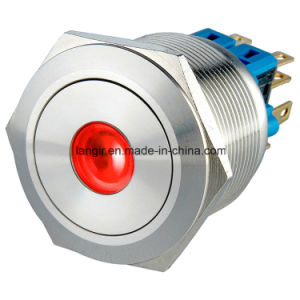 25mm Self-Locking 2no2nc DOT LED Waterproof Push Button Switch pictures & photos