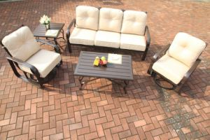 Garden Swivel&Glide Chat Group Cast Aluminum Set Furniture pictures & photos