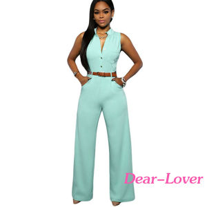 Fashion Women′s Ladies Sleeveless Jumpsuit Romper pictures & photos