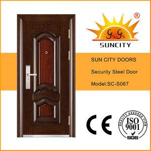 Top Quality Security Single Exterior Steel Door (SC-S067) pictures & photos