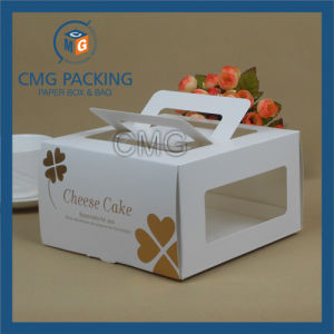 Glossy Lamination Gold Hot Stamping Elegant Cake Box (CMG-cake box-028) pictures & photos