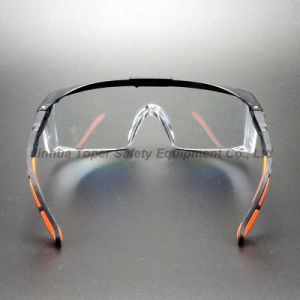 Adjustable Legs Wraparound Lens Safety Goggles (SG110) pictures & photos