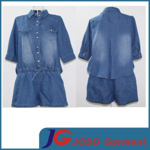 Cool Lady Denim Overall Shorts Clothing Jc6100 pictures & photos