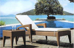Outdoor Rattan Furniture Garden Sun Leisure Lounge with Mini Table