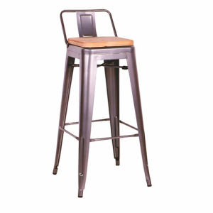 Modern Cafe Metal Tolix Chair Without Armrest (FS-D512 WOODEN SEAT) pictures & photos