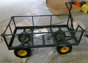 High Quality Four Wheel Garden Tool Cart pictures & photos