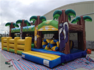 2016 Hot Sale Outdoor Jungle Theme Inflatable Obstacle Course pictures & photos