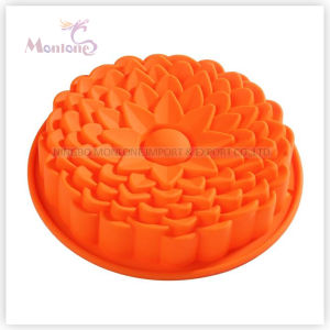 FDA & LFGB Bakeware Silicone Flower-Shaped Cake Pan Mould pictures & photos