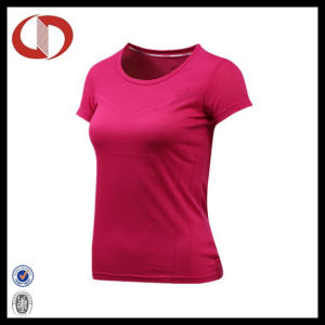 Wholesale Breathable Short Sleeve Women Sports T Shirt pictures & photos