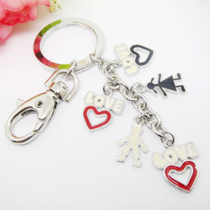 Heart Metal Keychain / Custom Shaped Logo Keychain pictures & photos