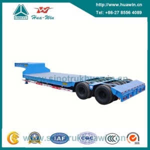 Two Line Four Axle Low Bed Semi Trailer pictures & photos