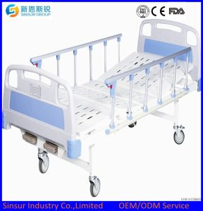 ISO/CE Approved Manual 2 Shake/Crank Hospital Medical Bed pictures & photos