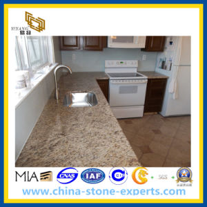 Giallo Ornamental Granite Kitchen Countertop for Bathroom pictures & photos