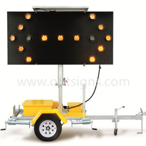 Optraffic Solar Powered LED Light Road Safety Arrow Board Trailer pictures & photos