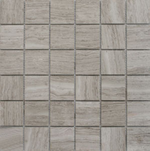 High Quality Honed Timber White Marble Polished Mosaic pictures & photos