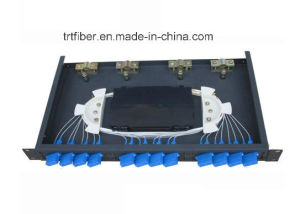 Rack Mounted Fiber Optic Terminal Box with Sc Adapters / Pigtails pictures & photos