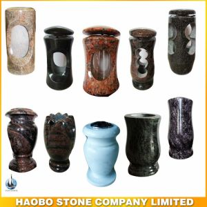 Haobo Stoe Granite Vase and Lamp for Cemetery and Tombstone pictures & photos