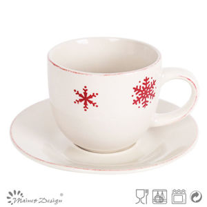 Christmas Red Snow Tea Cup and Saucer pictures & photos