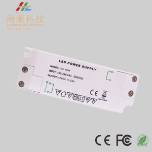 12V 24V15W Plastic IP20 LED Power Supply LED Driver pictures & photos