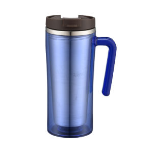 Lock&Lock Style Outside Plastic Inside Stainless Settel Coffee Mug pictures & photos