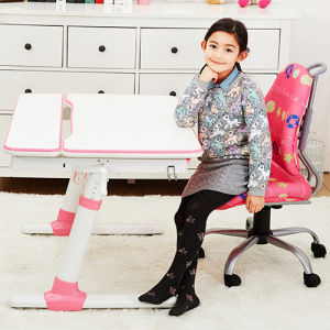 Ergonomic Crank Adjustable Tilting Student Desk with Metal Legs