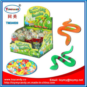 Growing Rubber Snake Toy with Candy