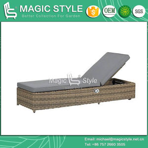 Rattan Sunlounger Relax Sunlounger Pneumatic Sun Bed Outdoor Furniture Patio Furniture Garden Furniture Wicker Sunlounger Leisure Daybed (Magic Style) pictures & photos