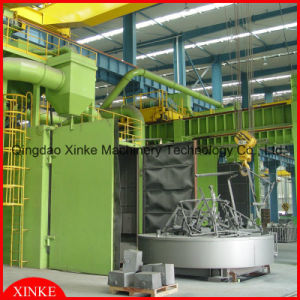 Large Parts Turn Table Shot Blasting Machine pictures & photos